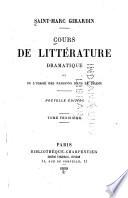 Cours de littérature, ou, De l'usage des passions dans le drame