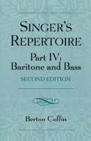 The Singer's Repertoire, Part IV
