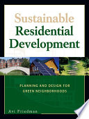 Sustainable Residential Development Book PDF