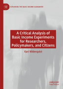 A Critical Analysis of Basic Income Experiments for Researchers, Policymakers, and Citizens Pdf/ePub eBook