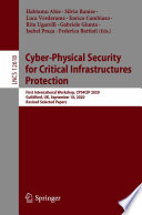 Cyber Physical Security for Critical Infrastructures Protection Book