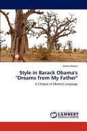 Style in Barack Obama s  Dreams from My Father
