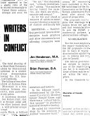 Writers in Conflict