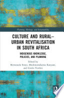 Culture and Rural   Urban Revitalisation in South Africa