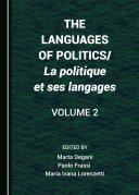Pdf The Languages of Politics/La politique et ses langages Volume 2 Telecharger