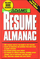 The Adams Resume Almanac