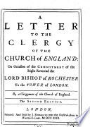 A Letter to the Clergy of the Church of England Book
