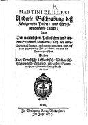 M. Zeilleri anderte Beschreibung dess Königreichs Polen, und Grosshertzogthums Litauen; aus den neulichsten Polnischen ... Scribenten, aufs neu ... zusammen getragen, und auf diese gegenwertige Zeit gerichtet, etc