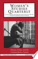 Women  Crime  and the Criminal Justice System