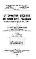 La donation déguisée en droit civil français