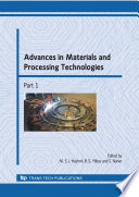 Advances in Materials and Processing Technologies