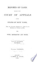Reports of Cases Decided in the Court of Appeals of the State of New York Book