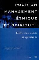 Pour un management éthique et spirituel