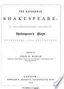 The Reference Shakespeare