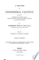 A Treatise on Infinitesimal Calculus: The dynamics of material systems. 1889