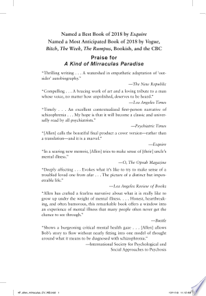 Download A Kind of Mirraculas Paradise Free Books - Dlebooks.net