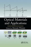 Optical Materials and Applications Book