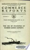 The Use of Statistics of Rubber-goods Exports