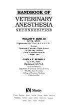 Handbook of Veterinary Anesthesia Book