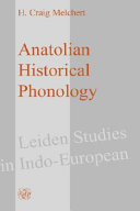 Anatolian Historical Phonology