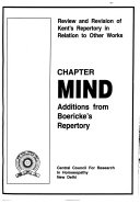 Pdf Chapter Mind, Additions from Boericke's Repertory