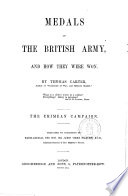 Medals of the British Army  and how They Were Won Bya Thomas Carter