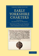 Early Yorkshire Charters  Volume 8  The Honour of Warenne