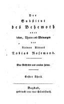 Der Substitut des Behemoth oder Leben, Thaten und Meinungen des kleinen Ritters Tobias Rosemond