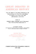 Great Debates in American History  Departments of government Book PDF