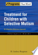 Treatment For Children With Selective Mutism Book PDF