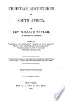 Christian Adventures in South Africa Book