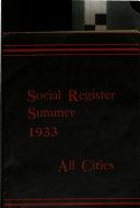 Social Register  Summer Book PDF