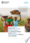Do Productive Safety Nets Increase Women S Agency And Decision Making Power Within The Household Evidence From Ethiopia