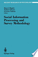 Social Information Processing and Survey Methodology Book