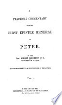 A Practical Commentary on the First Epistle of St  Peter