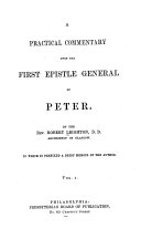 Pdf A Practical Commentary on the First Epistle of St. Peter
