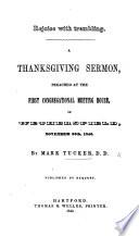 Rejoice with Trembling  A thanksgiving sermon