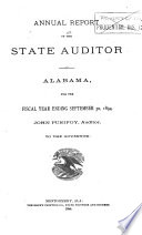 Annual Report of the State Auditor of Alabama  for the Fiscal Year Ending      to the Governor