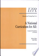 A National Curriculum for All