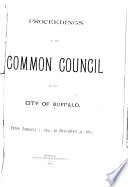 Proceedings of the Common Council of the City of Buffalo