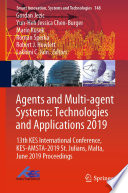 Agents and Multi agent Systems  Technologies and Applications 2019 Book