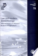 Law and Modern Biotechnology