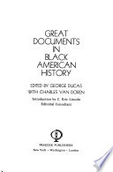 Great documents in Black American history