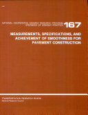 Measurements  Specifications  and Achievement of Smoothness for Pavement Construction