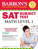 Barron's SAT Subject Test: Math Level 1, 6th Edition