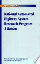 National Automated Highway System Research Program: