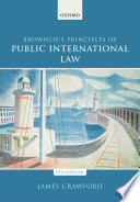 Cover of Brownlie's Principles of Public International Law