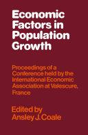 Pdf Economic Factors in Population Growth Telecharger