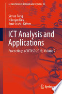 """ICT Analysis and Applications: Proceedings of ICT4SD 2019, Volume 2"" by Simon Fong, Nilanjan Dey, Amit Joshi"
