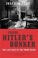 Cover of Inside Hitler's Bunker
